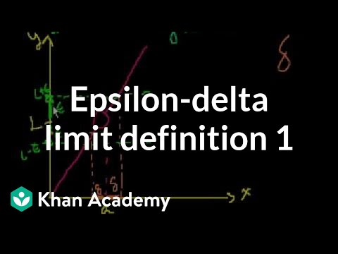 Epsilon Delta Limit Definition 1