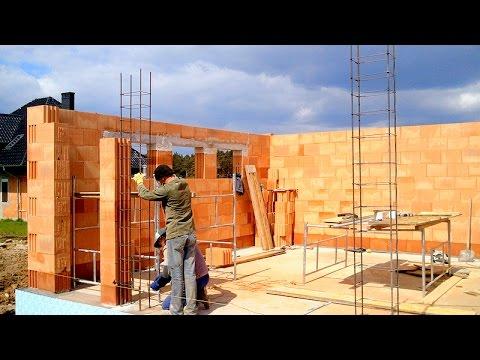 Budowa domu, ściany, Full HD, Film 11 Murowanie porotherm dryfix 3