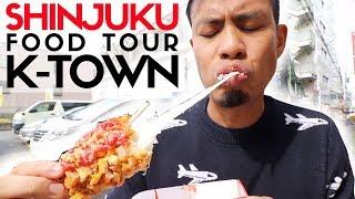 Tokyo Street Food Shinjuku Shin Okubo Top 6 | Korea Town?s Insane Fried Cheese Corn Dog