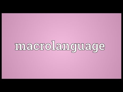 Header of Macrolanguage