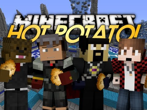 Minecraft Mini Game: Hot Potato! W  Jerome, Antvenom, & Bajan Canadian video