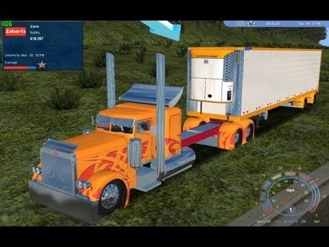 ▀▄▀ FAST Chopped Top Pete & Spread Axle Reefer. OVER 200 MPH!!! 18 WOS.