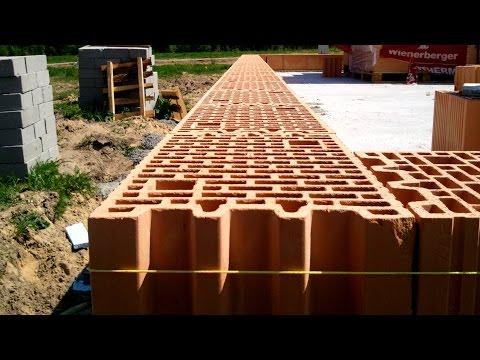 Budowa domu krok po kroku. Dzień 16 - Murowanie pierwszej warstwy. Kurs DVD
