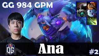 Ana - Anti-Mage Safelane | GG 984 GPM | Dota 2 Pro MMR Gameplay #2