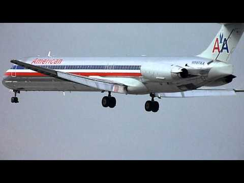 HD American Airlines MD-83 [N597AA] Landing at San Jose International Airport-SJC