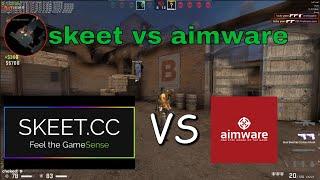 skeet.cc vs aimware.net 1v4 mm hvh