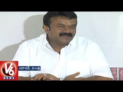 Minister Talasani Srinivas Yadav Criticize Congress Leaders | Wanaparthy District | V6 News