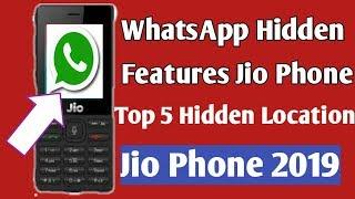 WhatsApp Top 2 Hidden features in Jio Phone/Jio Phone me WhatsApp Hidden Location/