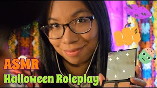 【asmr】 Getting you ready for your Halloween Party!  💄👻 | Makeup & Costume Roleplay | Soft-Speaking