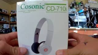 Обзор наушников cosonic cd 710i.   overview headphones