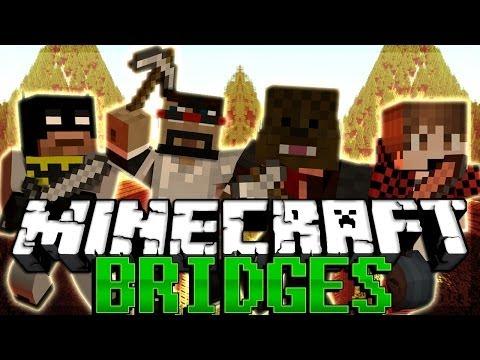 NEW MAP Minecraft BRIDGES w CaptainSparklez BajanCanadian and xRPMx13