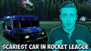 Using The SCARIEST Car In Rocket League...