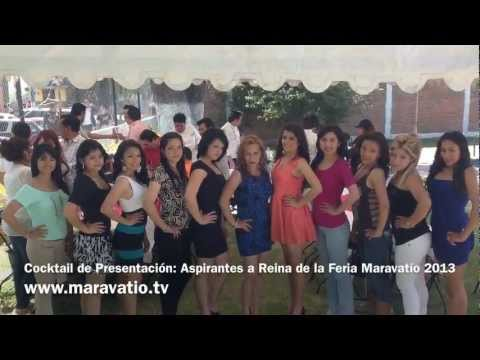 Cocktail de Presentaci&oacute;n: Aspirantes a Reina de la Feria Maravat&iacute;o 2013