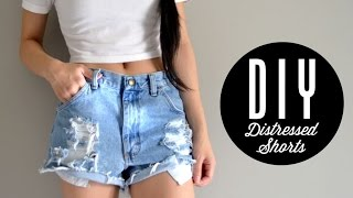 DIY Distressed Shorts | Injoyy
