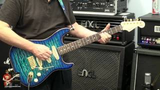 Video TWO Neck Pickup - Blue Fender Stratocaster Strat Custom Shop  - make yours - tonymckenzie.com
