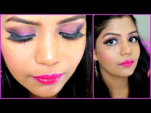 Makeup Tutorial Exotic Indian Makeup Tutorial Festival Diwali Makeup Pink Purple Eye Makeup