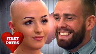 Girl Removes Her Wig During Dinner... Then He Does This... | First Dates