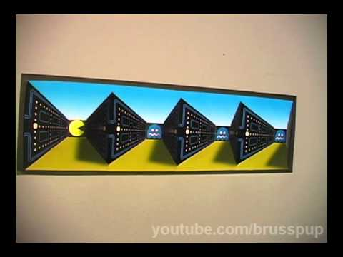 Amazing Pacman Poster Illusion!