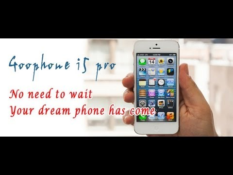 Apple iphone 5 brother clone goophone i5 pro MTK6577 antutu test kick-off video