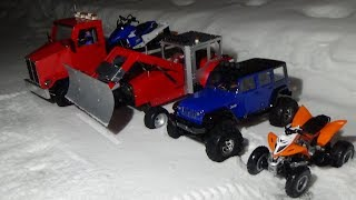 Rc SNOWMOBILE sr viper,rc tractor plowing,rc truck adventure,rc yamaha 700r raptor test.