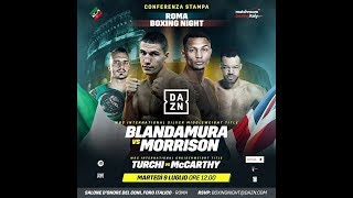 Conferenza Stampa della Roma Boxing Night 2019