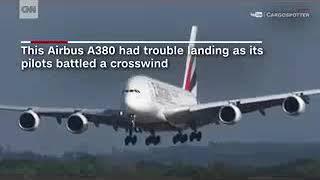 طوفان خلبان ایرباس A380 در فرودگاه بین المللی دوسلدورف آلمان را به زحمت انداخت