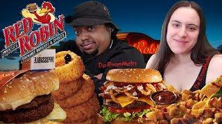 Red Robin New! Impossible Burger & El Ranchero Burger Taste Test#DaRoomMates