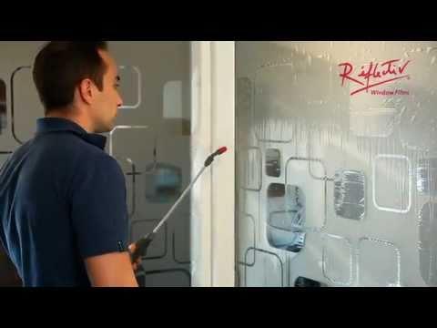 Presentazione sull' applicazione della pellicola adesiva per vetri di Réflectiv - YouTube