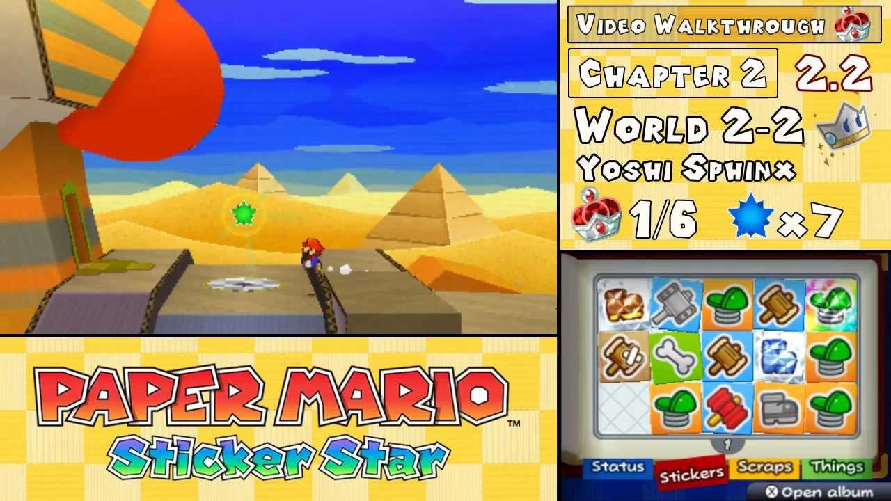 paper mario sticker star yoshi sphinx help