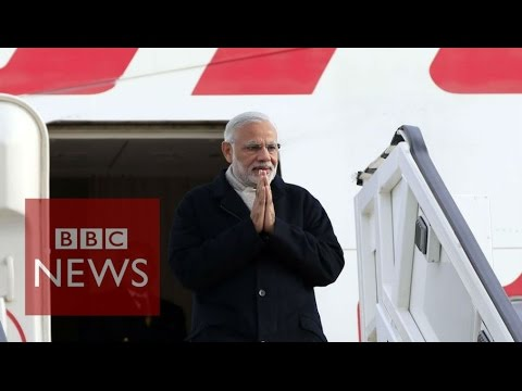 Indian PM Narendra Modi arrives in UK - BBC News