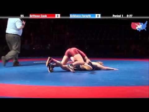 Fargo 2012 95 RR1: Brittnee Cook (Washington) vs. Rebbeca Forsyth (Virginia)