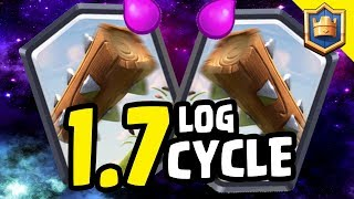INSANE 1.7 LOG CYCLE DECK! CHALLENGE TROLLING! - Clash Royale