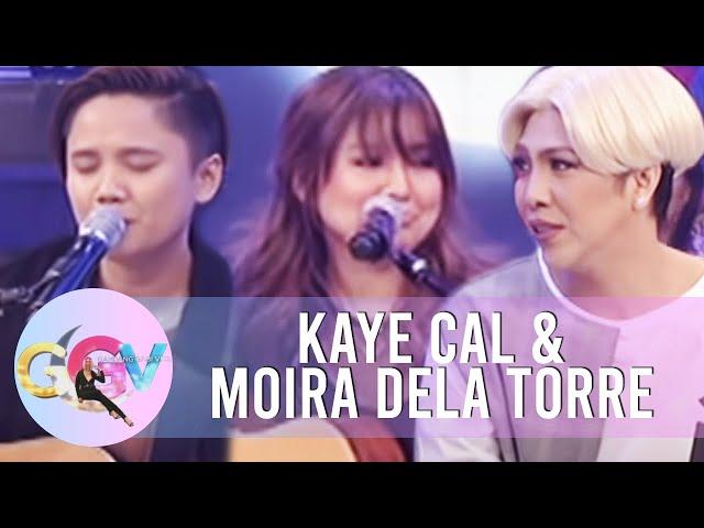 GGV: Impromptu 'hugot' songs with Kaye Cal and Moira dela Torre