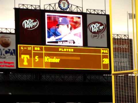 Texas Rangers Opening Montage and Starting Lineup for 6-12-09 Against LA Dodgers