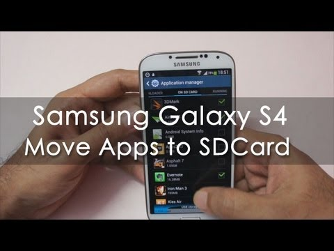 Samsung Galaxy S4 Move Apps to the SDCard - Geekyranjit