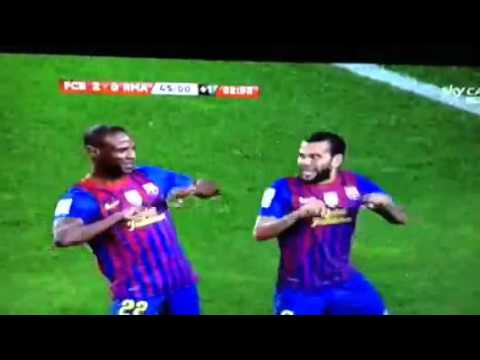 Dani Alves Amazing Goal Barcelona vs Real Madrid 25/01/2012 Sky Sport ITA