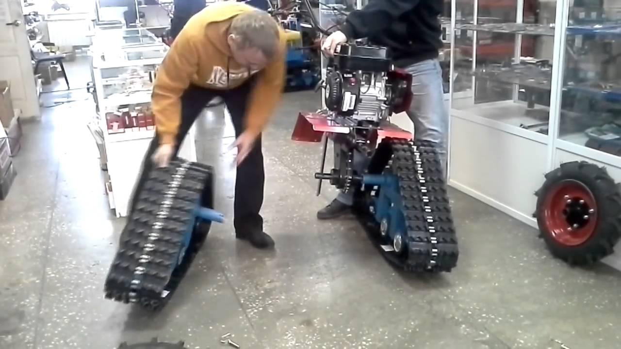 Как сделать из мотоблока снегоход на гусеницах