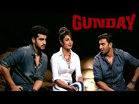 Gunday movie actors Priyanka Chopra, Ranveer Singh and Arjun Kapoor EXCLUSIVE INTERVIEW
