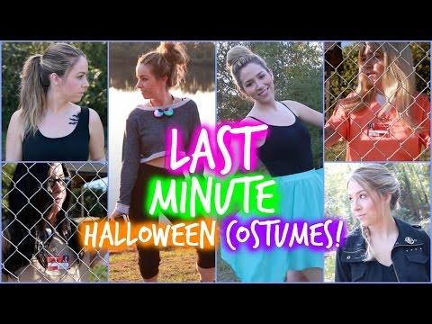 DIY Easy Last Minute Halloween Costumes!