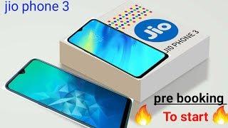 Jio phone 3 pre booking start 2gb ram 64 gb camera 13+5 mp front camera 8mp