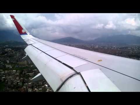 New airbuss  nepal airlines  A320 Delhi to KTM HD