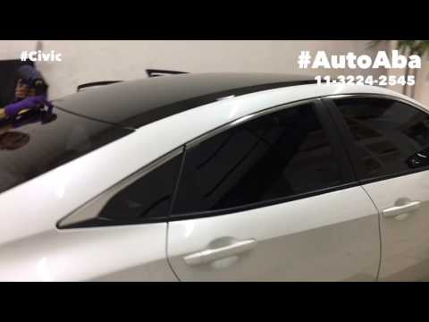 Teto Black Piano Honda Civic 2017 Geração X 10 - AutoAba Acessórios