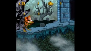 Donkey Kong Country 4 Demo 2 Gameplay - Donkey and Kiddy only