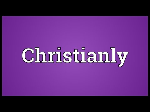 Header of Christianly