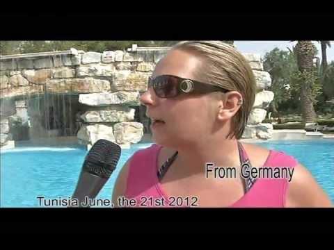 Tunisia, Tunisie, Sousse et Hammamet, le 21 juin 2012: t?moignages de touristes sur place - тунис 2012
