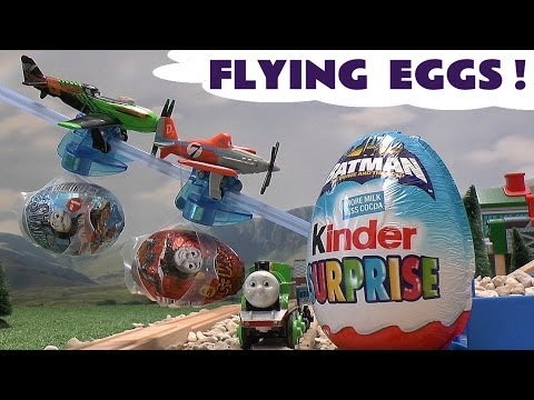 Disney Planes Kinder Surprise Egg Thomas And Friends Batman Donald Duck Kinder Easter Egg Opening video