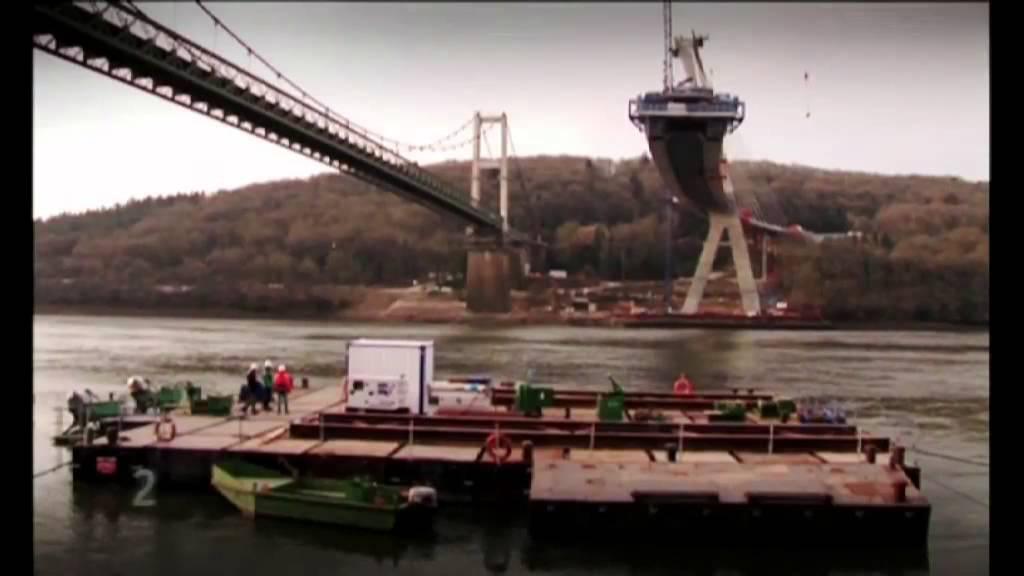 Pont de terenez youtube - Premier pont a haubans ...