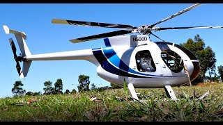 LARGE HUGHES MD500D model  RC Helicopter - FLOWN LOW AND FAST