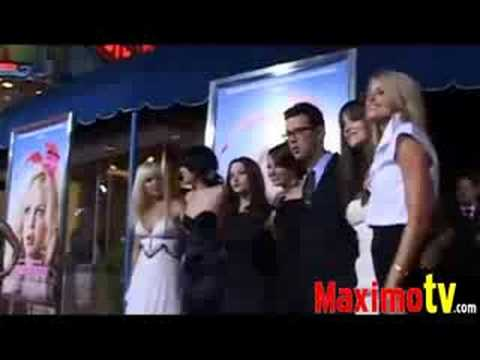 ANNA FARIS, EMMA STONE, KAT DENNINGS, KATHARINE MCPHEE, RUMER WILLIS, COLIN HANKS, RACHEL SPECTER, SARAH WRIGHT THE HOUSE BUNNY MOVIE PREMIERE Video