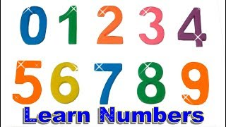 Learn Colors Learn to Count 0 to 9 Counting in - English Play Doh Numbers